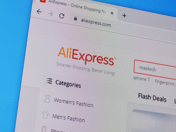 NY, USA - DECEMBER 16, 2019: Homepage of aliexpress website on the display of PC, url - aliexpress.com.